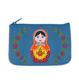 Lavishy Russian Doll Embroidered Small Pouch