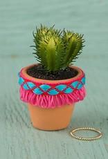 Natural Life Hot Pink Fringe Mini Succulent