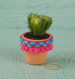 Natural Life Hot Pink Fringe Mini Succulent