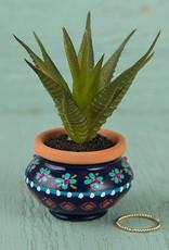Natural Life Navy & Pink Mini Succulent