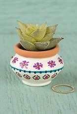 Natural Life Cream & Navy Mini Succulent