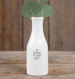 "Natural Life ""You Make My Heart Happy"" Bud Vase"