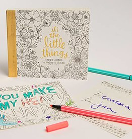 Natural Life Happy Notes Coloring Notebook