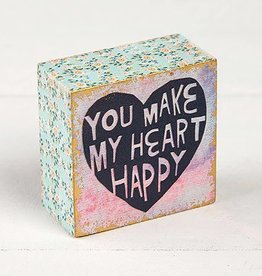 "Natural Life ""You Make My Heart"" Tiny Block Keepsake"