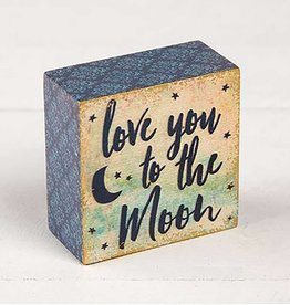 "Natural Life ""Love You To The Moon"" Tiny Block Keepsake"