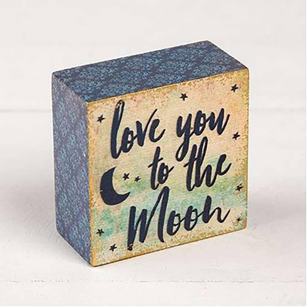"Natural Life ""Love You To The Moon"" Tiny Block Keepsake"
