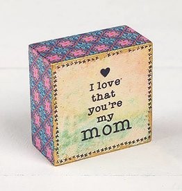 "Natural Life ""I Love My Mom"" Tiny Block Keepsake"
