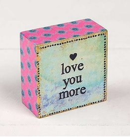 "Natural Life ""Love You More"" Tiny Block Keepsake"