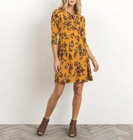 Gilli Knit Floral Keyhole Dress w/ Necktie