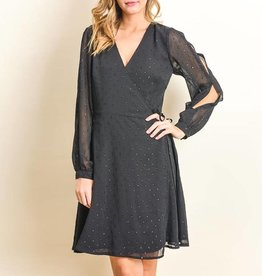 Gilli Twinkle Pin Dot True Wrap Dress