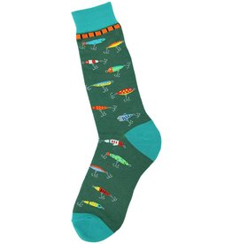 Foot Traffic Fishing Lure Men's Socks