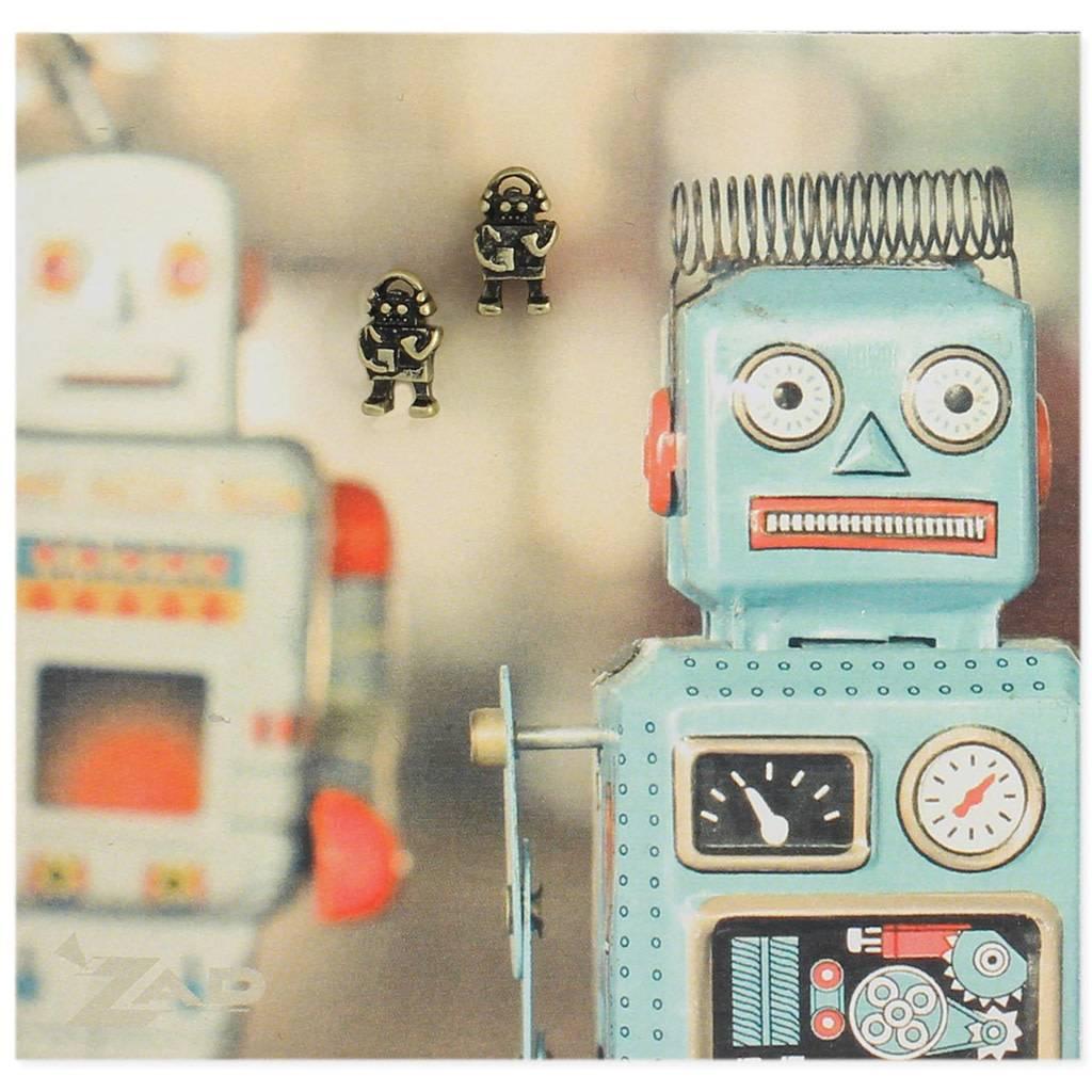 ZAD Robot Post Earrings