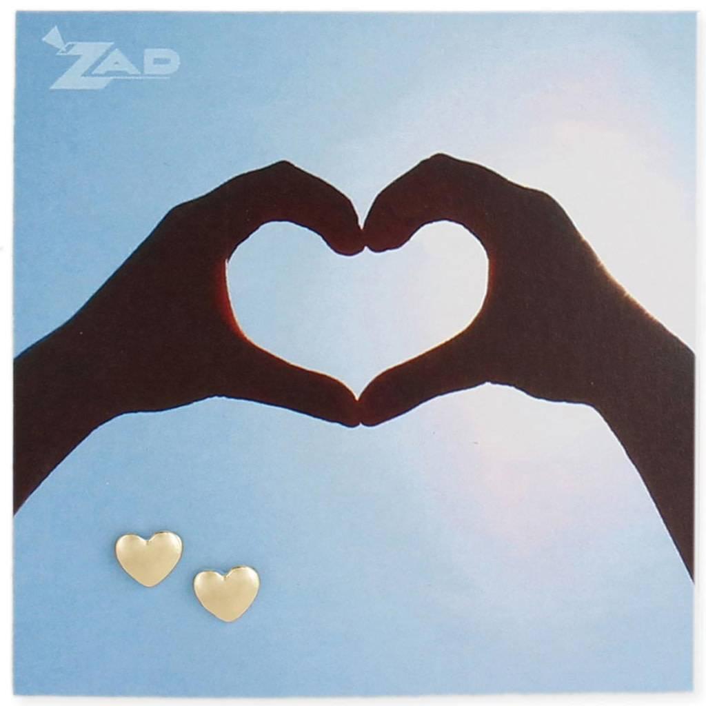 ZAD Heart Post Earrings