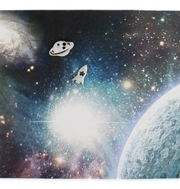 ZAD Rocket & Planet Post Earrings