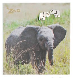 ZAD Elephant Post Earrings