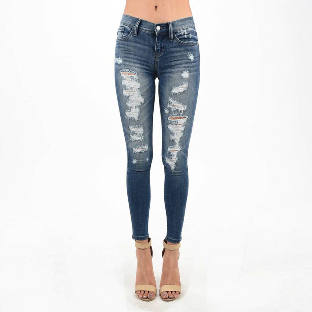 Judy Blue Destroyed Skinny Jeans