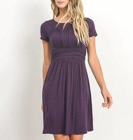 Gilli Jersey Ruched Round Neck Dress