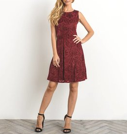Gilli Velvet Burnout A-Line Dress with Glitter Accents