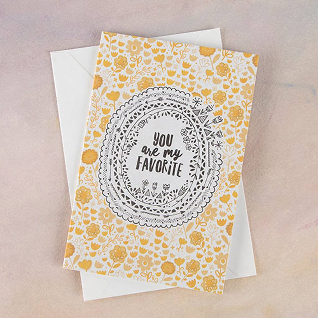 Greeting cards virtue boutique natural life greeting card you are my favorite m4hsunfo