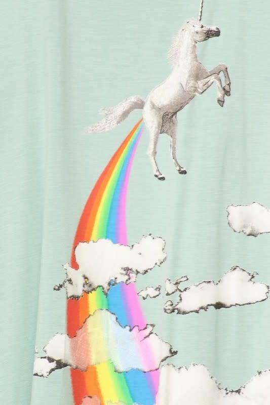Bear Dance Unicorn Farting Rainbow Tank