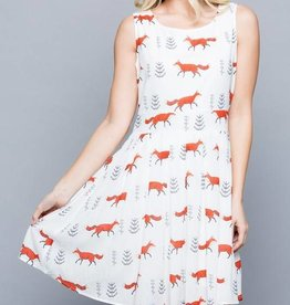 LA Soul White Fox Dress