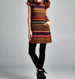 LA Soul Stripe Print Tunic Dress