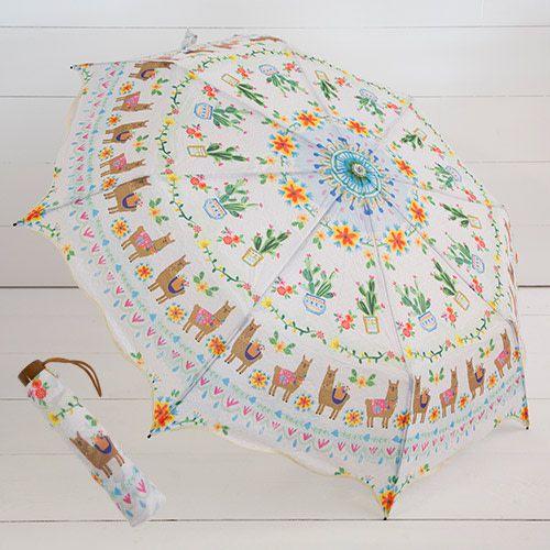 Natural Life Llama Cactus Umbrella