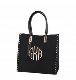 Studded Accents Fashion Bag with Tassel