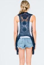 &Merci Knit Crotchet Vest