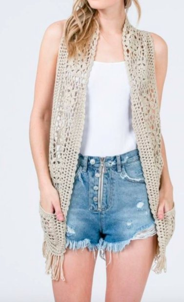 &Merci Knit Crotchet Vest