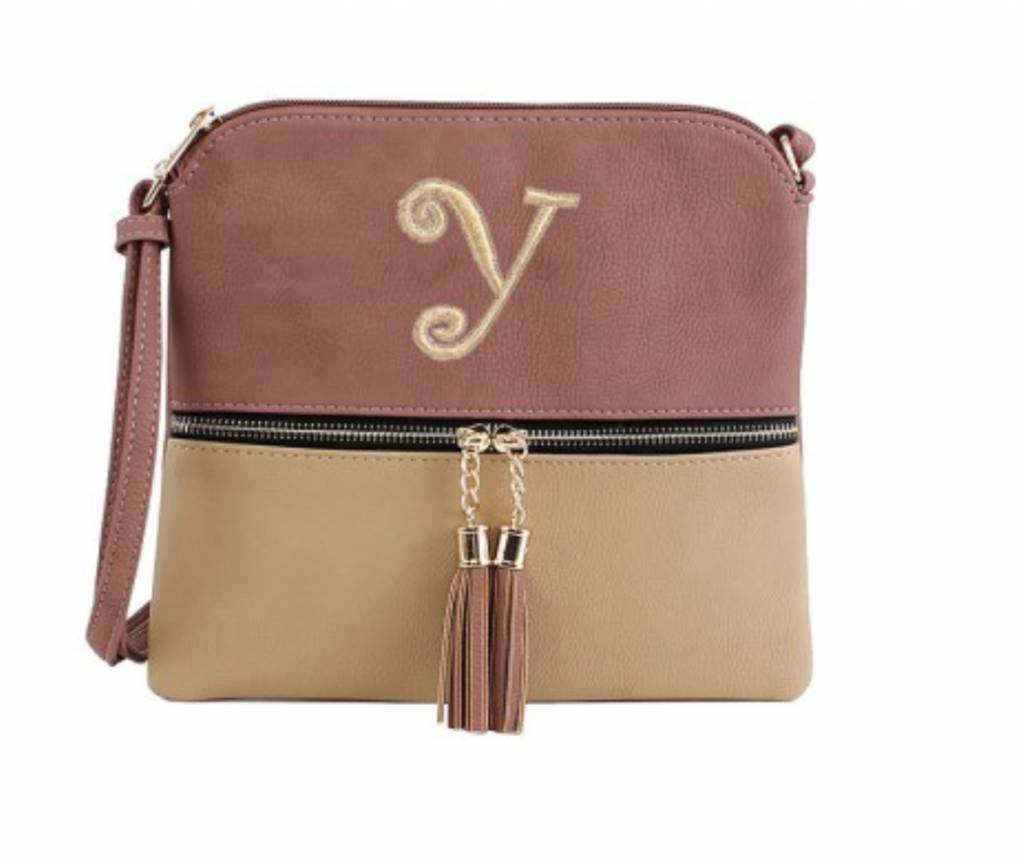 Mimi Wholesale Dual Toned Fashion Crossbody Bag with Tassel