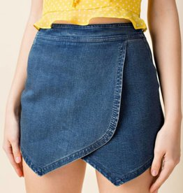 Honey Punch Vintage Denim Skort