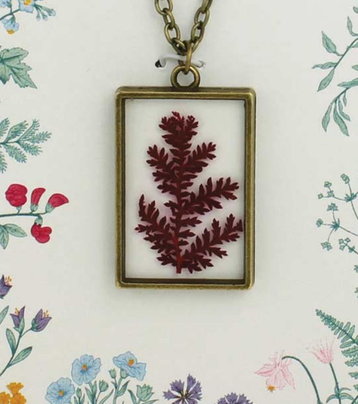 ZAD Fern Rectangle Necklace