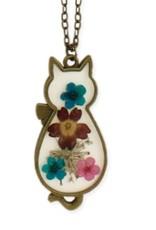 ZAD Floral Cat Necklace