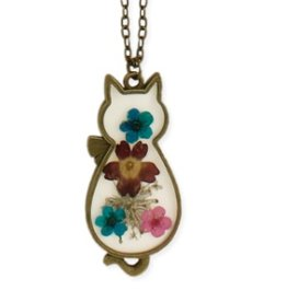 ZAD Floral Cat Necklace