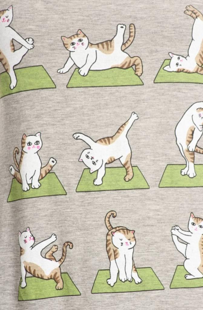 Bear Dance Cat Yoga Tank