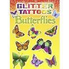 Dover Publishing . DOV GLITTER TATT BUTTERFLIES