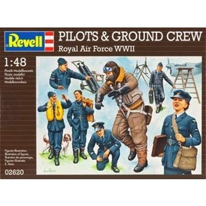 Revell of Germany . RVL 1/48 PILTS/GRND CREW WWII