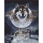 Plaid (crafts) . PLD Wolf Dreamcatcher Pbn