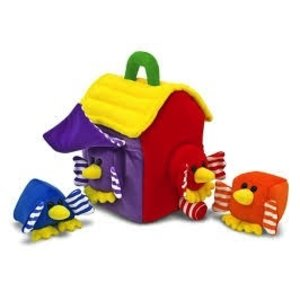 Melissa & Doug . M&D BIRD HOUSE SHAPE SORTER