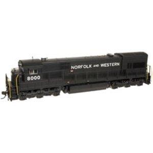 Atlas Model Railroad Co . ATL HO U30C SLV N&W 8000