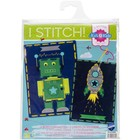 Vervaco . VVC ROBOT&ROCKET EMBROIDERY KIT