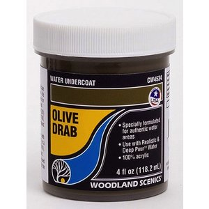 Woodland Scenics . WOO OLIVE DRAB WATER UNDERCT