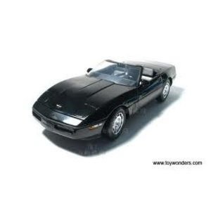 Green Light Collectibles . GNL 1/18 CORVETTE CONV '86 BLACK