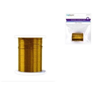 MultiCraft . MCI BEAD WIRE 28G GOLD
