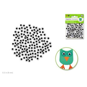 MultiCraft . MCI GOOGLY EYES 8MM 150PK