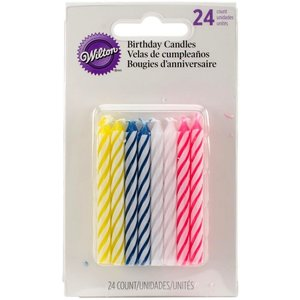Wilton Products . WIL B-DAY CANDELS STRIPED