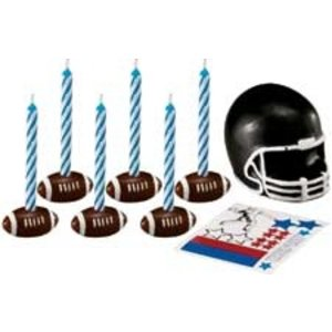 Wilton Products . WIL CANDLE SET FOOTBALL DECAL