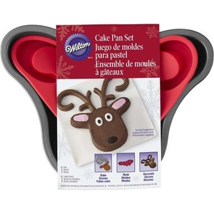 Wilton Products . WIL CAKE PAN SET - REINDEER