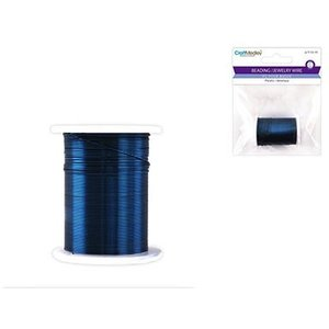 MultiCraft . MCI BEAD WIRE 28G ROYAL BL